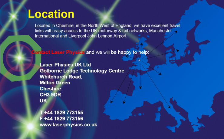 Laser Physics Contact Us Webpage
